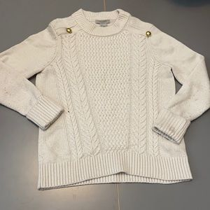 Girls knit sweater with 2 gold buttons: size: S